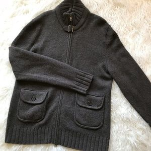 BANANA REPUBLIC BROWN WOOL CASHMERE BLEND SWEATER
